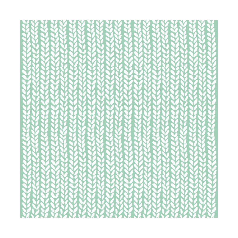 Knit Wave Mint Home Rug by Emeline