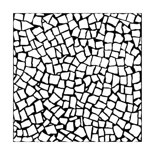 Design for British Mosaic White on Black