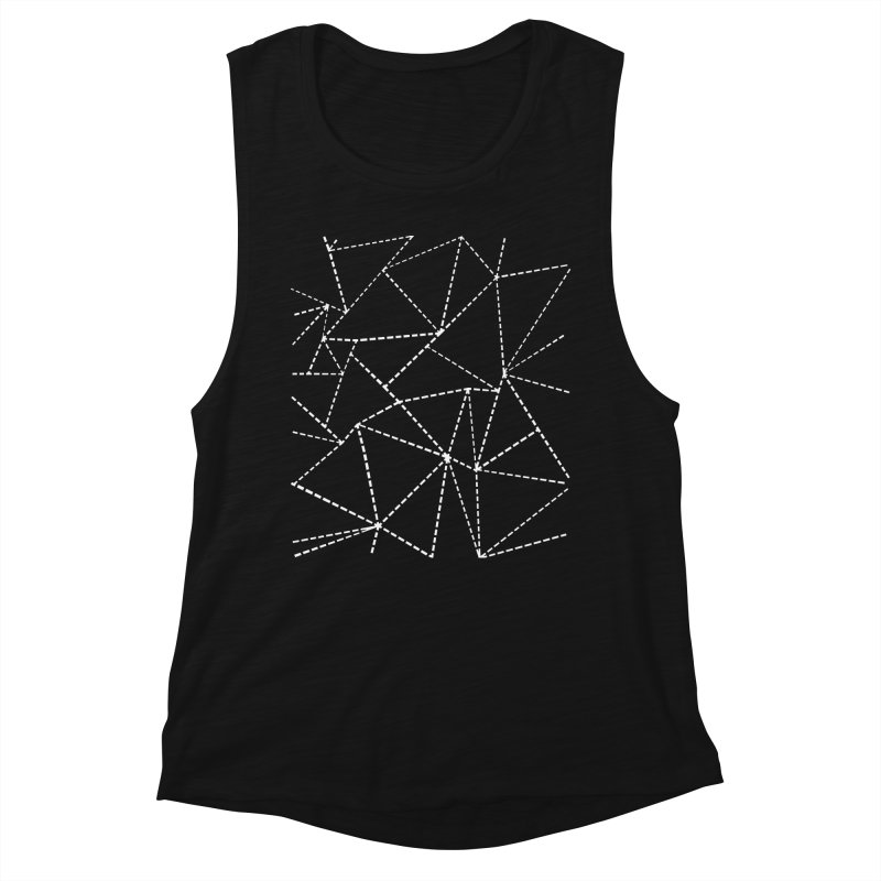Ab Dotted Lines Black Women's Tank by Emeline
