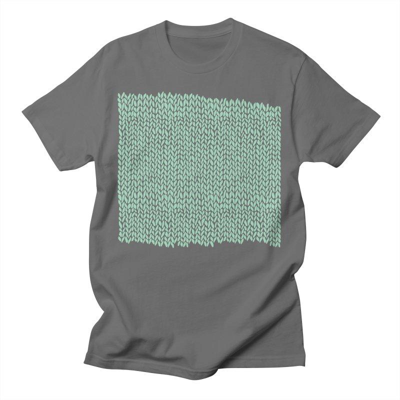 Hand Knit Mint Green Men's T-Shirt by Emeline
