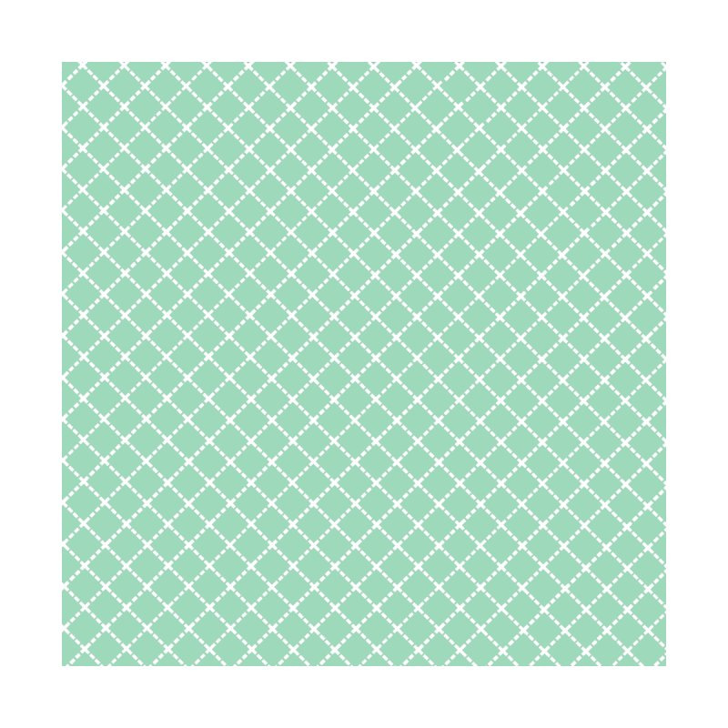 Dotted Grid 45 Mint Green Men's T-Shirt by Emeline