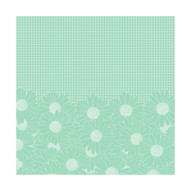 Daisy Grid Mint Green Accessories Neck Gaiter by Emeline