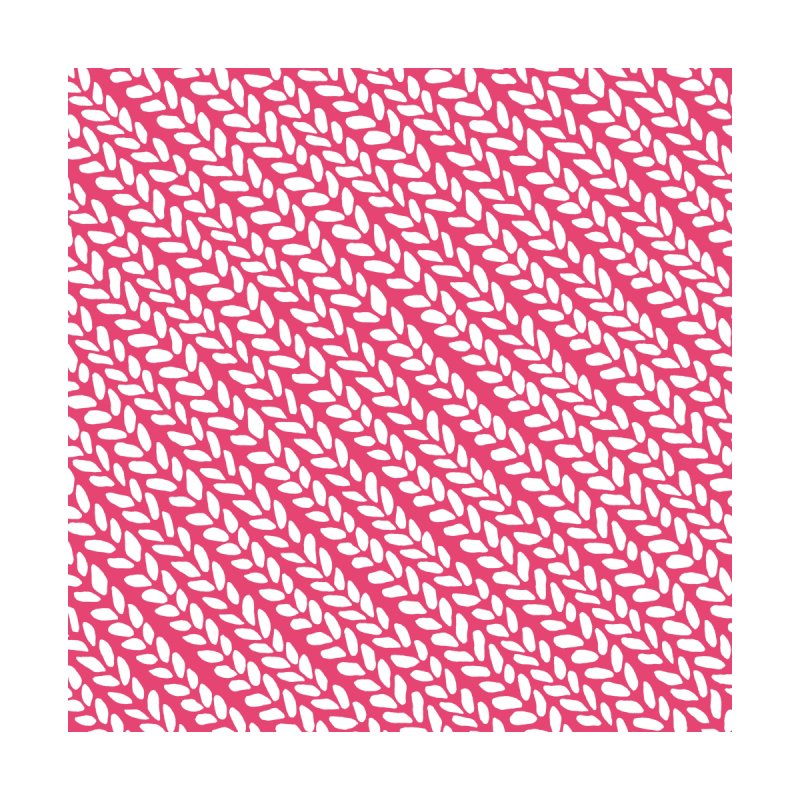 Knit Wave Raspberry Men's T-Shirt by Emeline