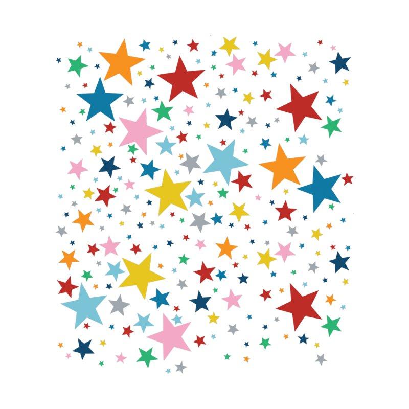 Rainbow Stars on Black Accessories Magnet by Emeline
