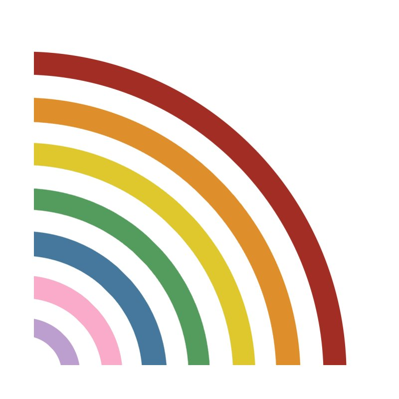 Rainbow Corner Men's T-Shirt by Emeline