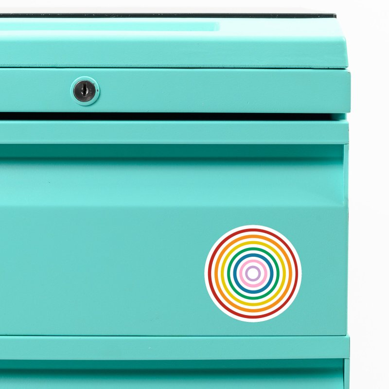 Rainbow Target Accessories Magnet by Emeline