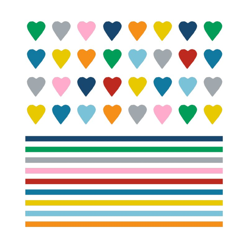 Rainbow Heart Stripes Accessories Magnet by Emeline