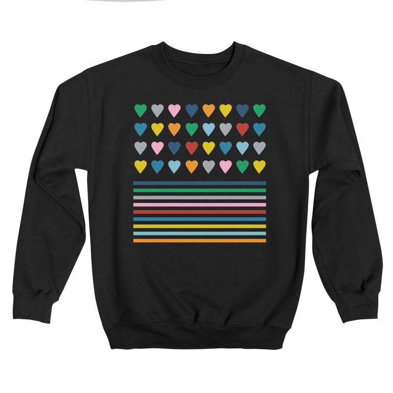 Rainbow Heart Stripes Men's Sweatshirt by Emeline