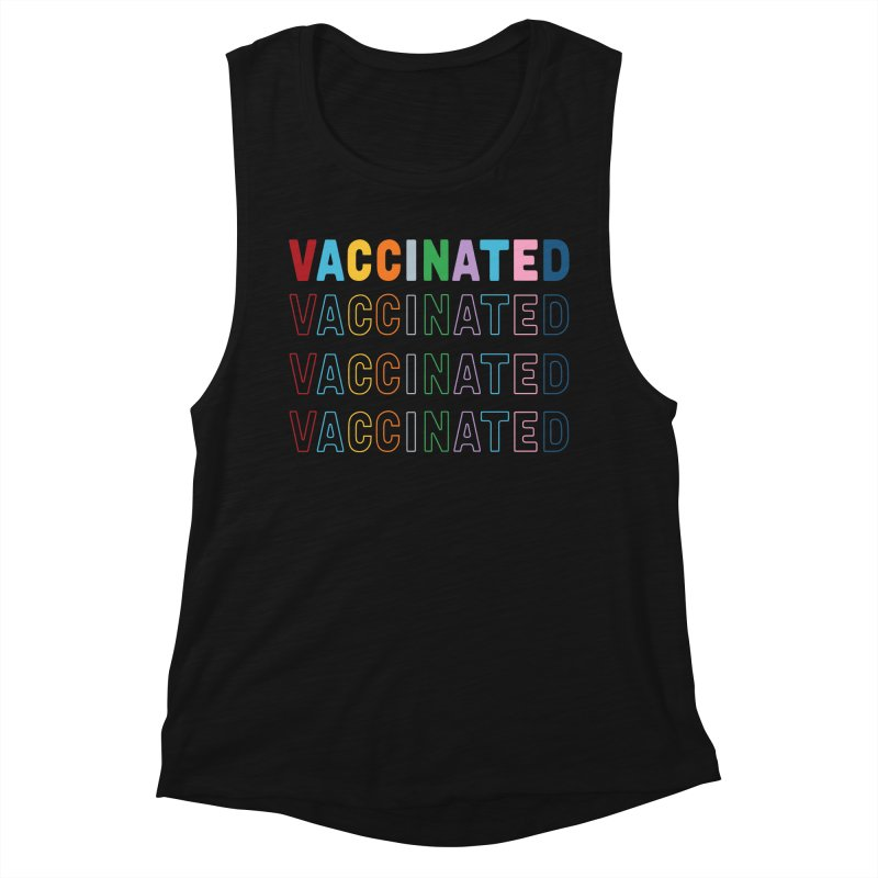 Vaccinated Outline Women's Tank by Emeline