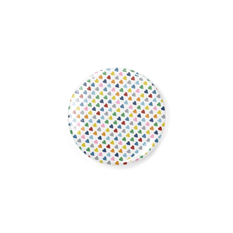 Rainbow Hearts 45 Accessories Button by Emeline
