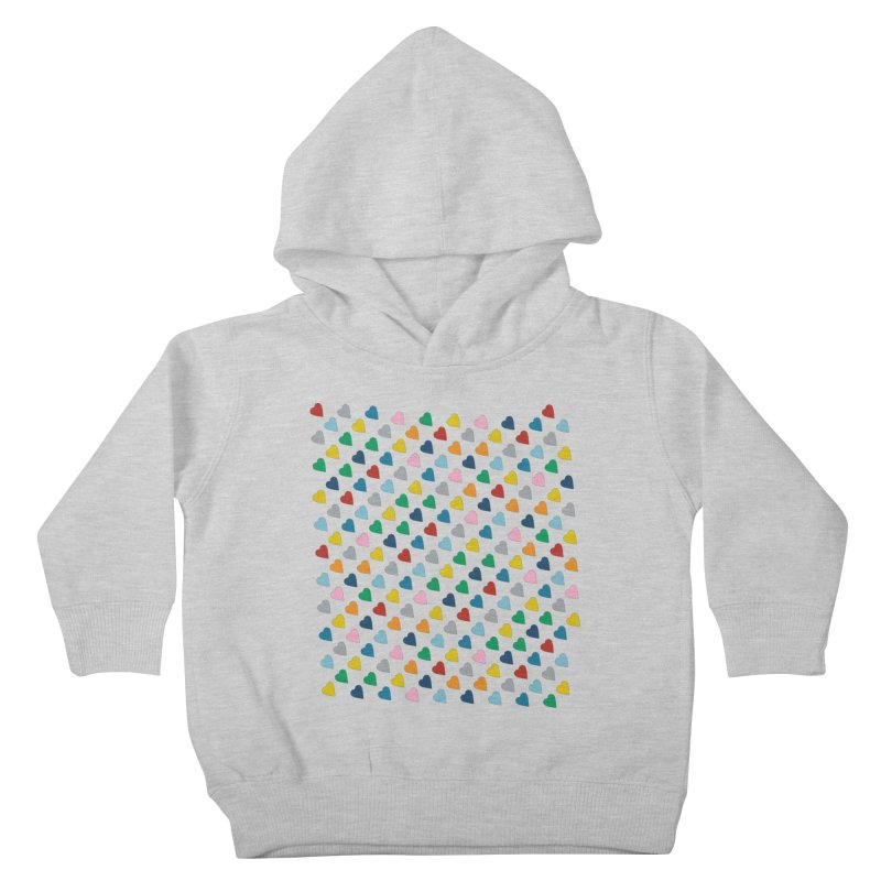Rainbow Hearts 45 Zoom Kids Toddler Pullover Hoody by Emeline