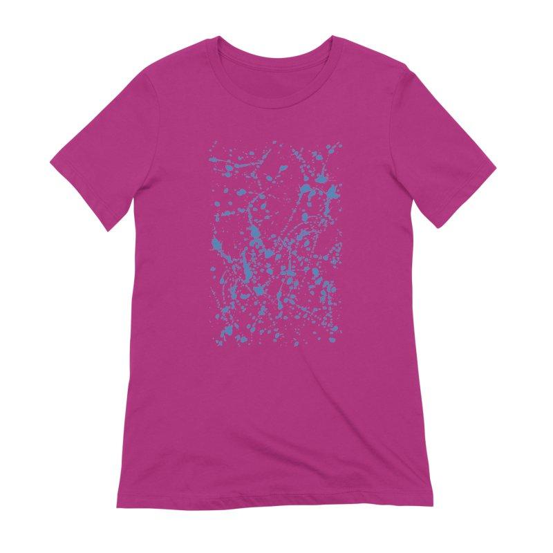 Blue Splat Women's Extra Soft T-Shirt by Project M's Artist Shop