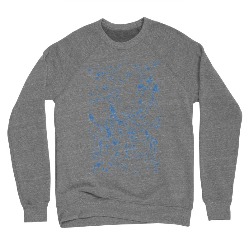 Blue Splat Men's Sponge Fleece Sweatshirt by Project M's Artist Shop