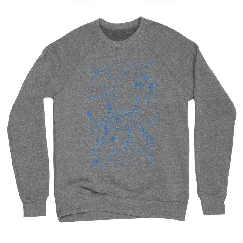 Blue Splat Women's Sponge Fleece Sweatshirt by Project M's Artist Shop