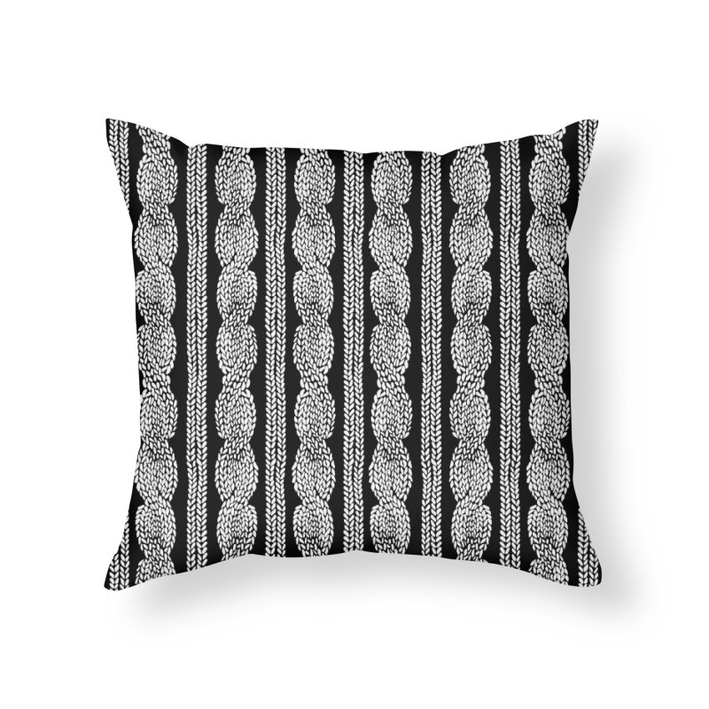 Cable Row in Throw Pillow by Project M's Artist Shop