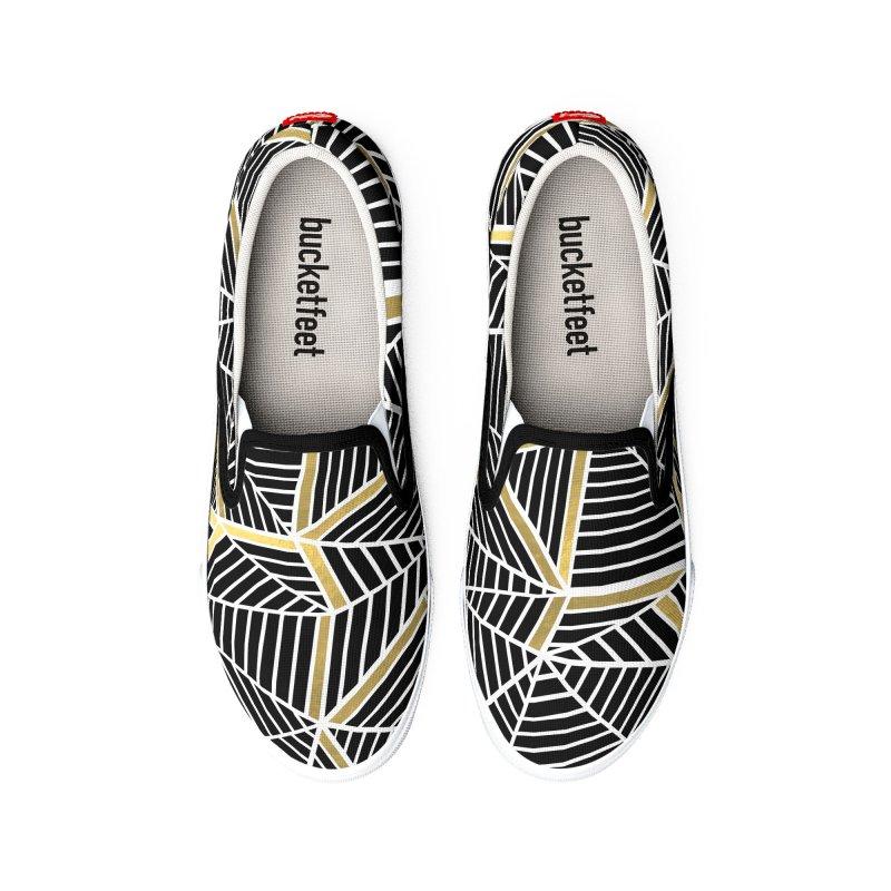 Ab Lines Gold Men's Shoes by Project M's Artist Shop