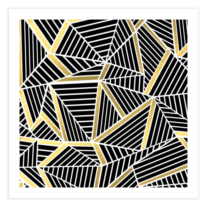 Ab Lines Gold in Fine Art Print by Project M's Artist Shop