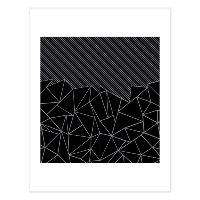 Ab Lines 45 Black in Fine Art Print by Project M's Artist Shop