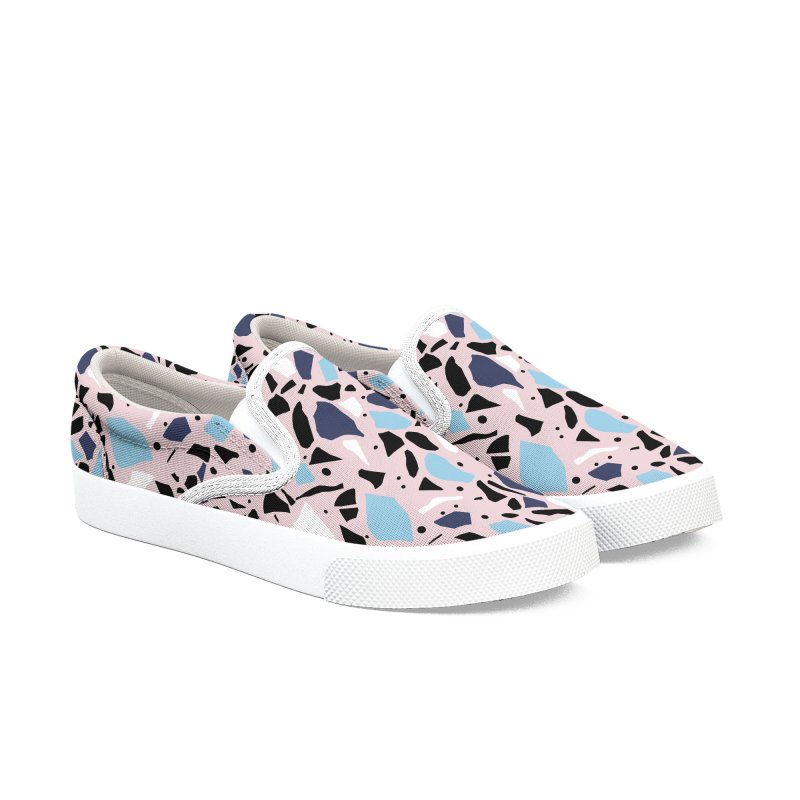 Terrazzo Blue Blush in Women's Slip-On Shoes by Project M's Artist Shop