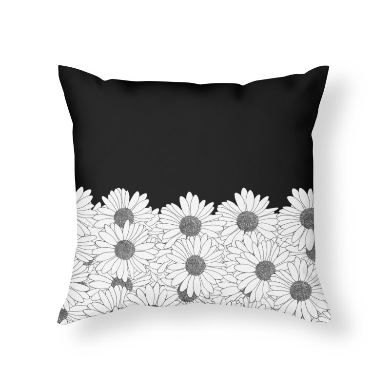 Daisy Boarder in Throw Pillow by Project M's Artist Shop
