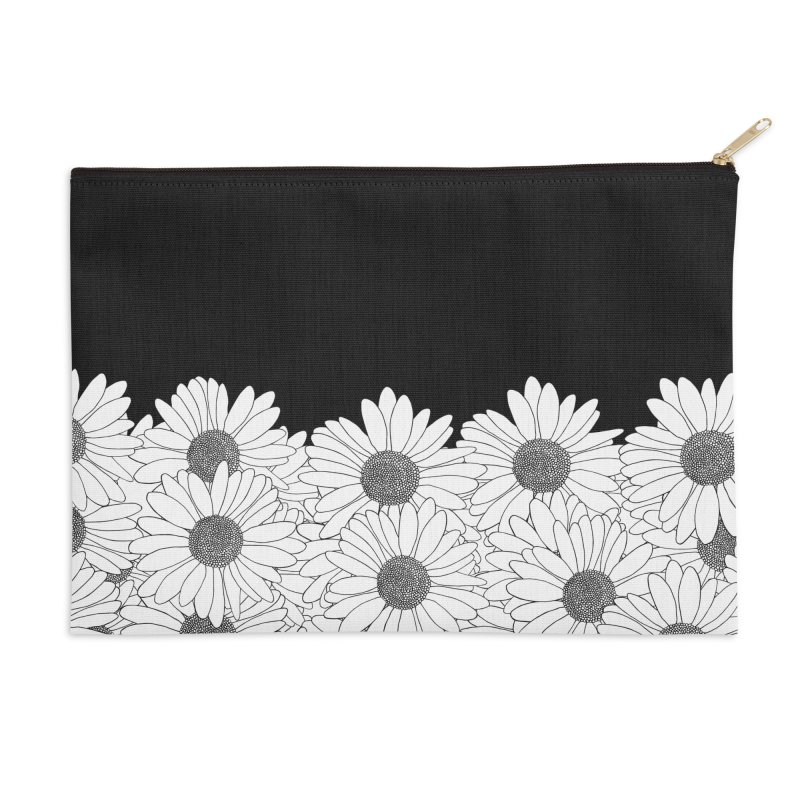 Daisy Boarder Accessories Zip Pouch by Project M's Artist Shop