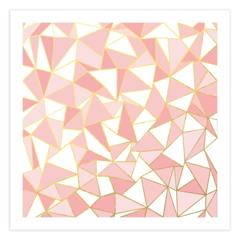 Ab Out Blush and Gold in Fine Art Print by Project M's Artist Shop