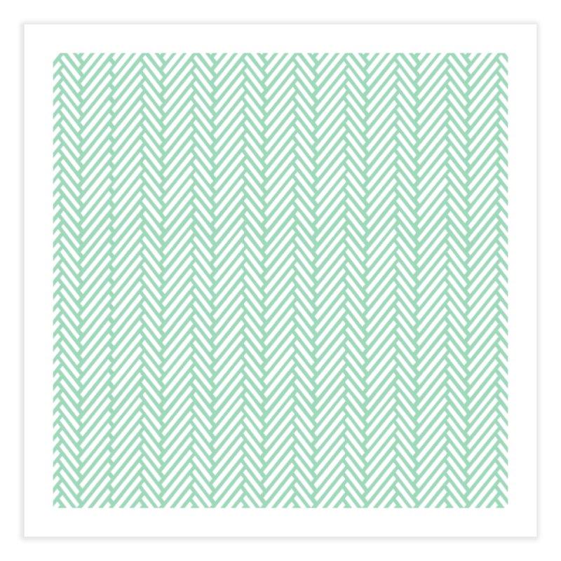 Herringbone Mint in Fine Art Print by Project M's Artist Shop