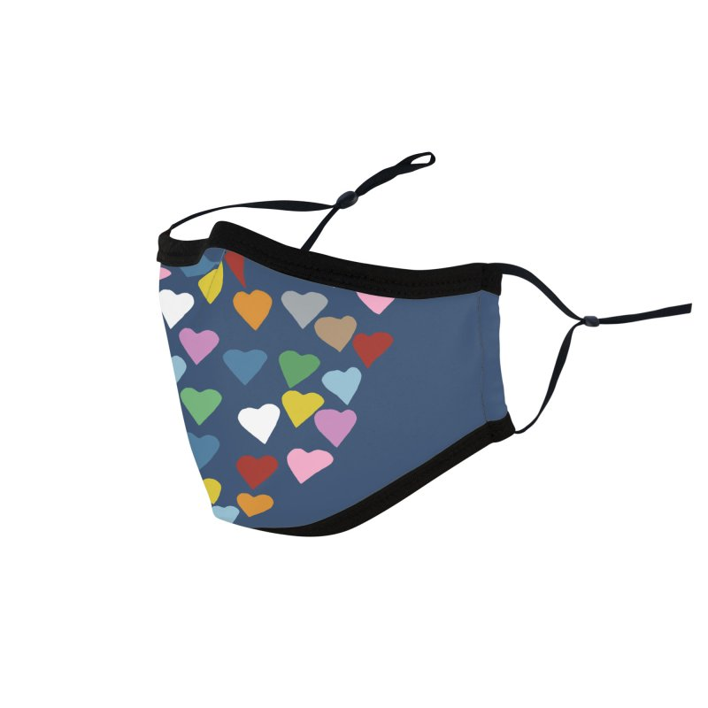 Hearts Heart Accessories Face Mask by Emeline