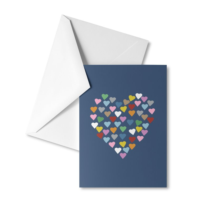 Hearts Heart Accessories Greeting Card by Emeline