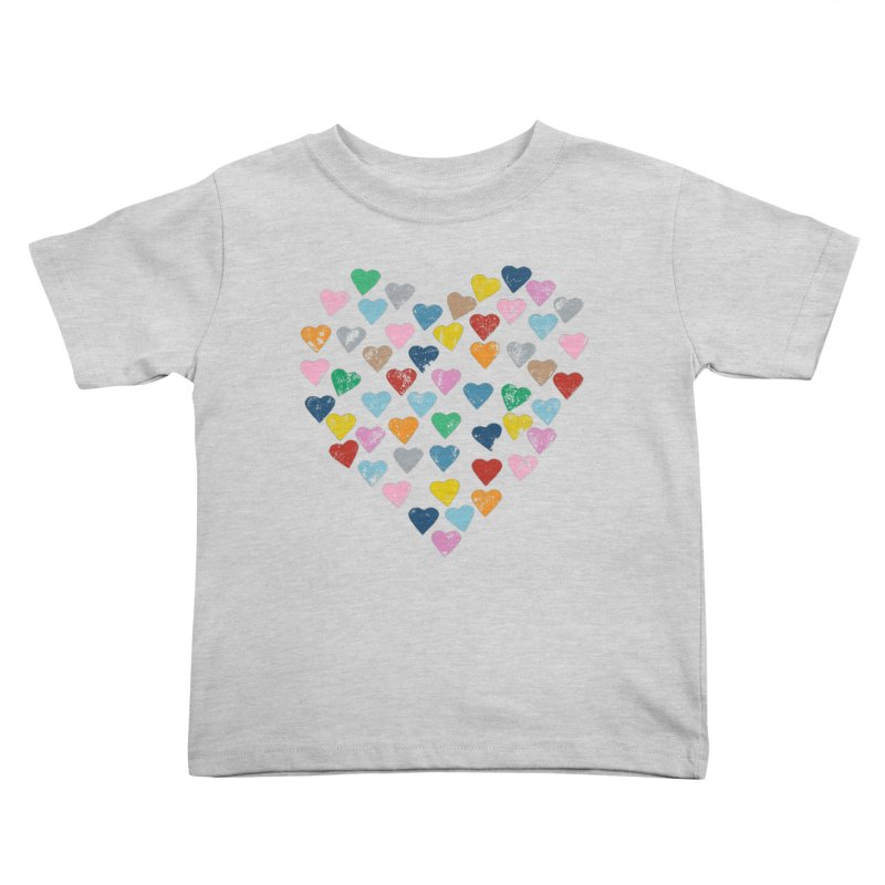 Hearts Heart Kids Toddler T-Shirt by Emeline