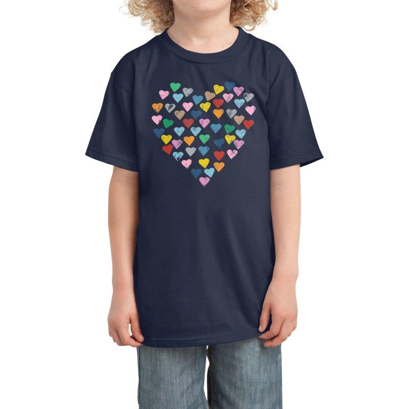 Hearts Heart Kids T-Shirt by Emeline