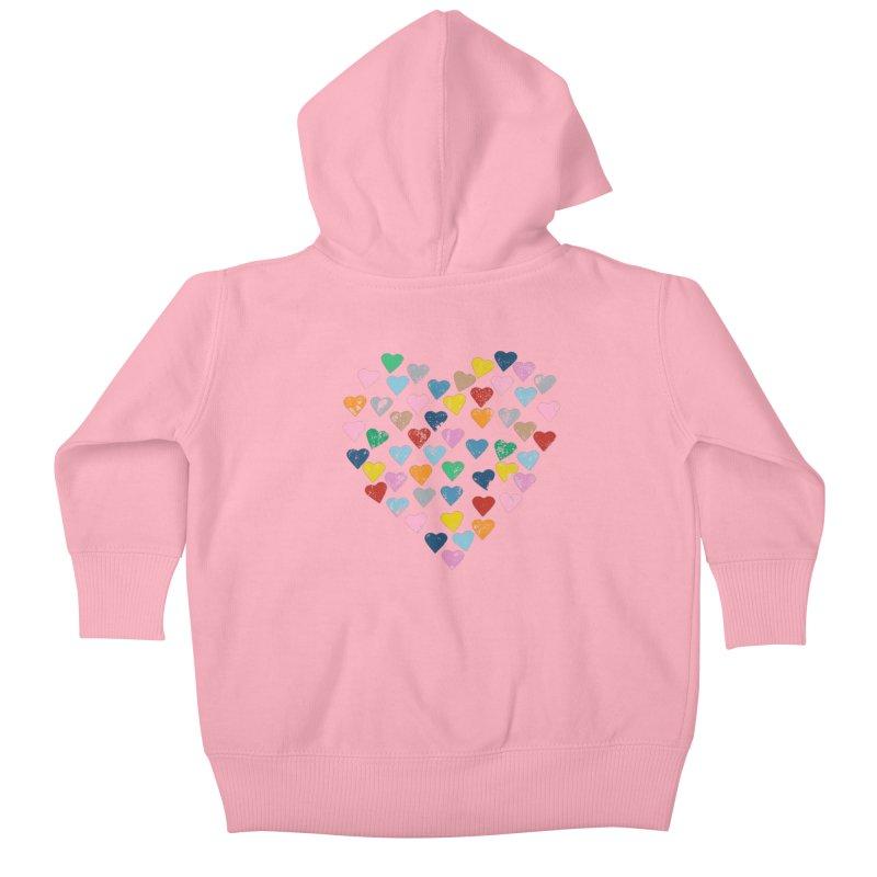 Hearts Heart Kids Baby Zip-Up Hoody by Emeline