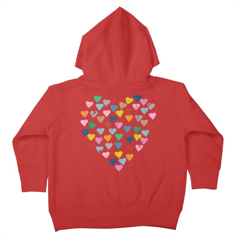 Hearts Heart Kids Toddler Zip-Up Hoody by Emeline