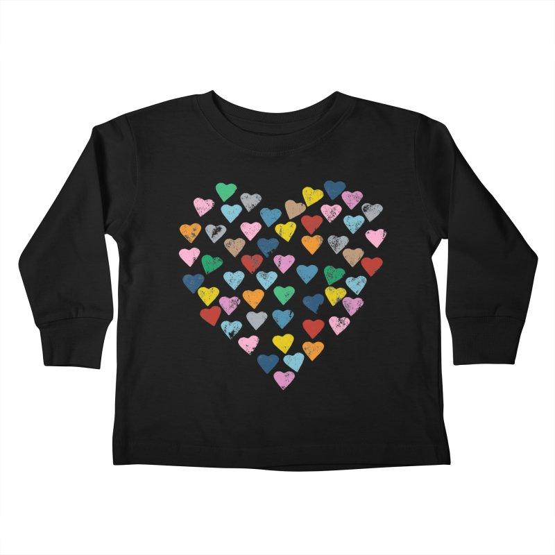 Hearts Heart Kids Toddler Longsleeve T-Shirt by Emeline