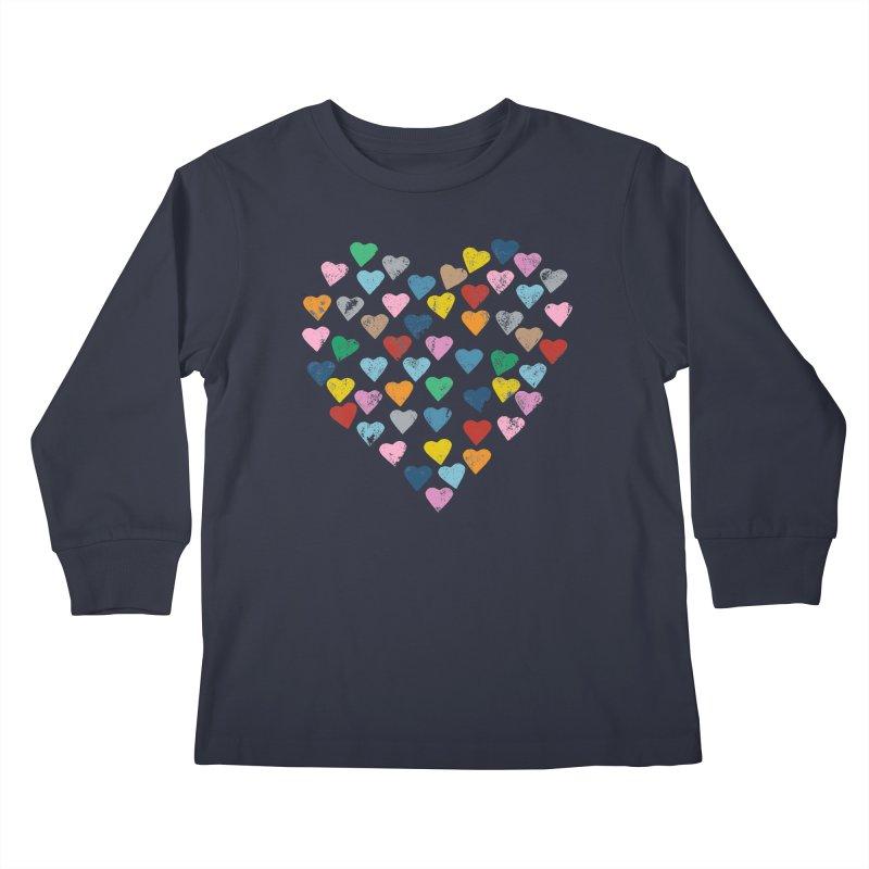 Hearts Heart Kids Longsleeve T-Shirt by Emeline