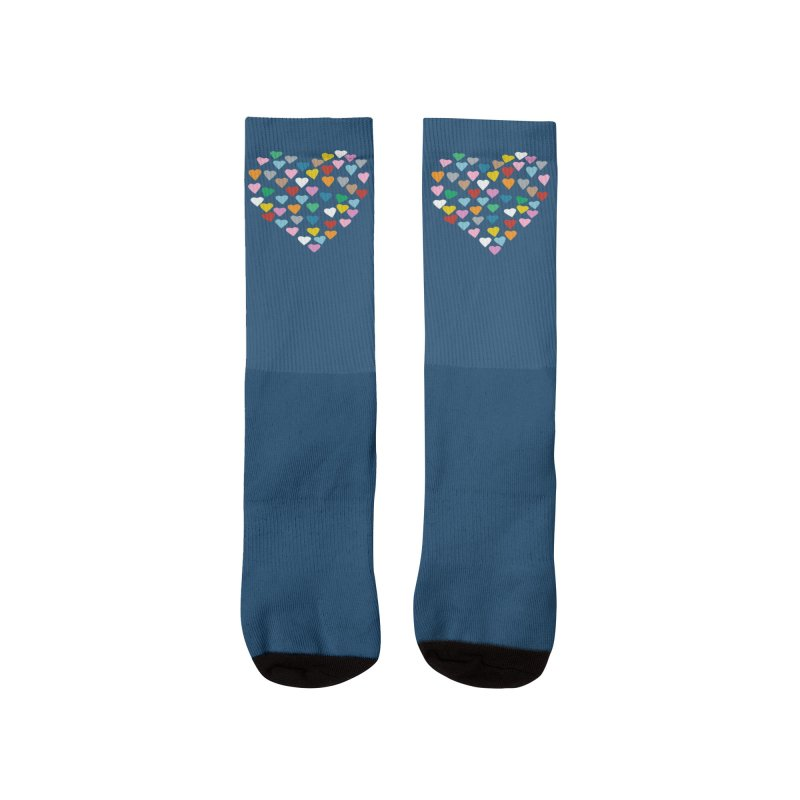 Hearts Heart Men's Socks by Emeline