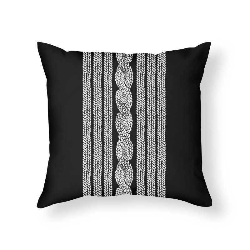 Knit Cable in Throw Pillow by Project M's Artist Shop