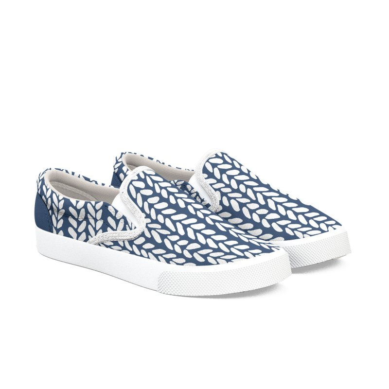 Knit Wave Navy in Women's Slip-On Shoes by Project M's Artist Shop