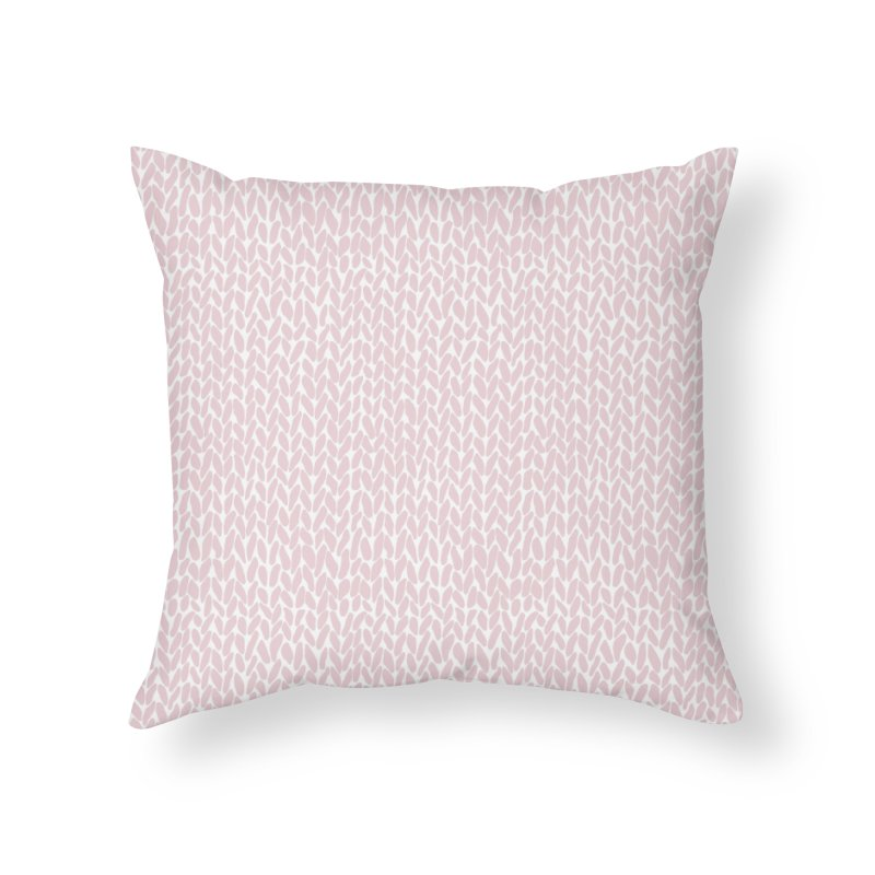 Knit Bubblegum in Throw Pillow by Project M's Artist Shop