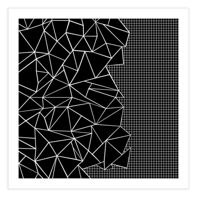 Ab Outline Grid on Side Black in Fine Art Print by Project M's Artist Shop