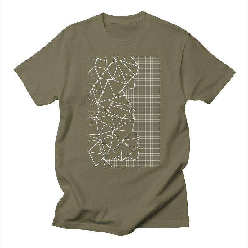 Ab Outline Grid on Side Black Men's Regular T-Shirt by Project M's Artist Shop