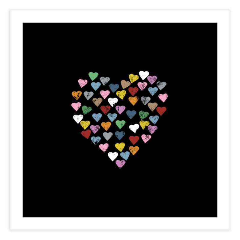 Distressed Hearts Heart B in Fine Art Print by Project M's Artist Shop