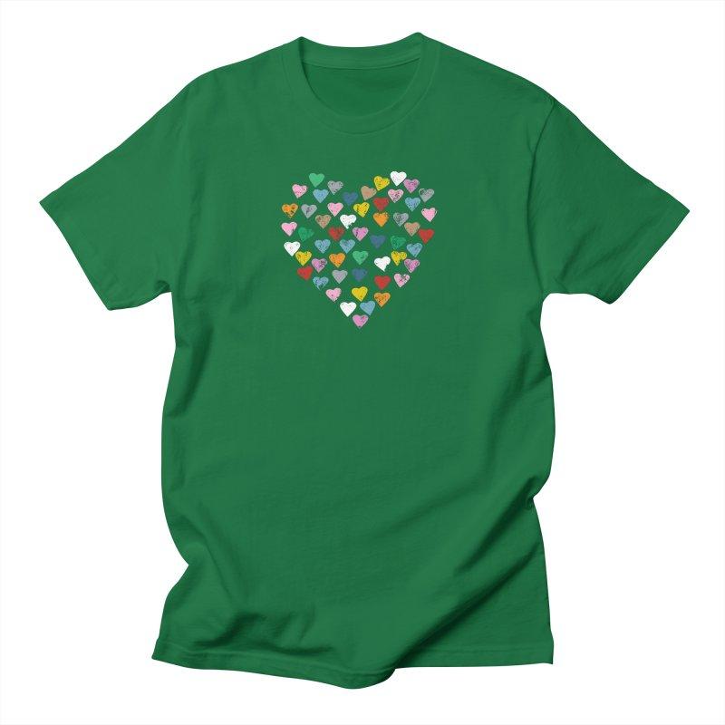 Distressed Hearts Heart B Men's Regular T-Shirt by Project M's Artist Shop