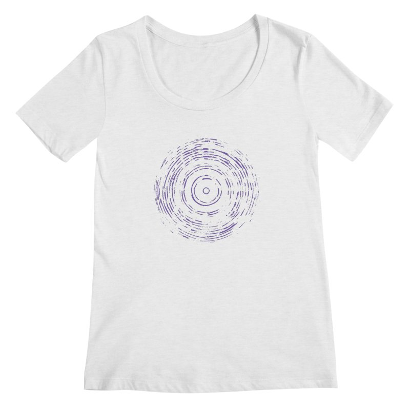 Violet Rainbow Women's Regular Scoop Neck by Project M's Artist Shop