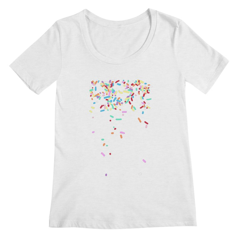 Sprinkles Women's Regular Scoop Neck by Project M's Artist Shop