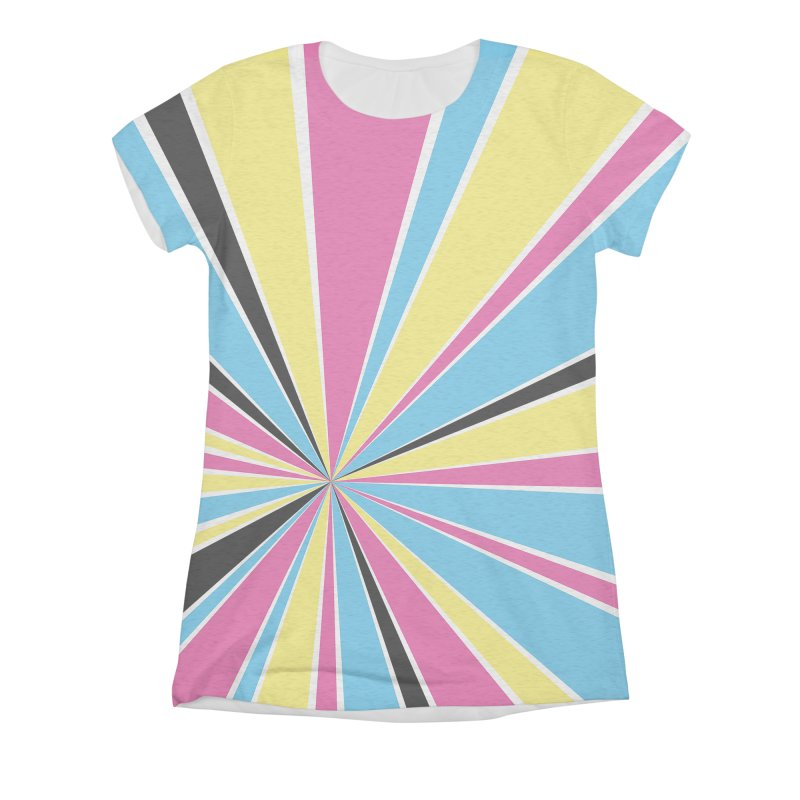 CMYK Star Burst Women's Triblend All Over Print by Project M's Artist Shop