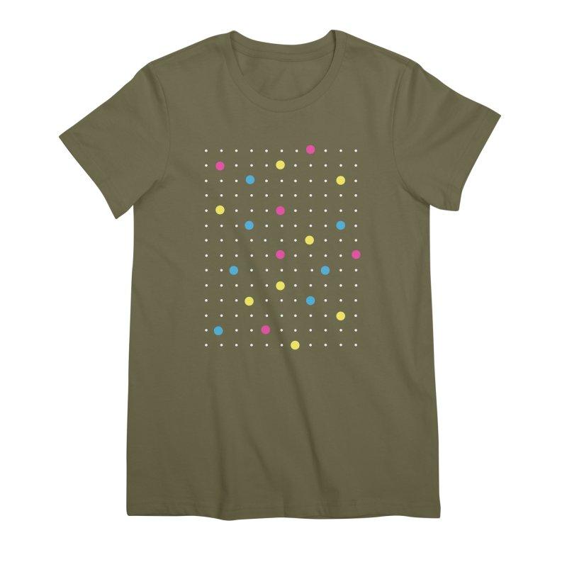 Pin Points CMYK Women's Premium T-Shirt by Project M's Artist Shop