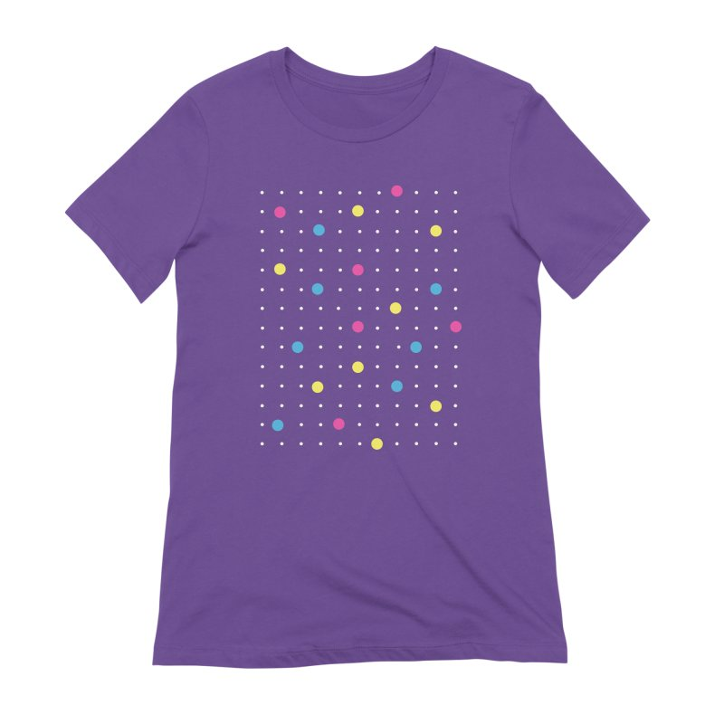 Pin Points CMYK Women's Extra Soft T-Shirt by Project M's Artist Shop