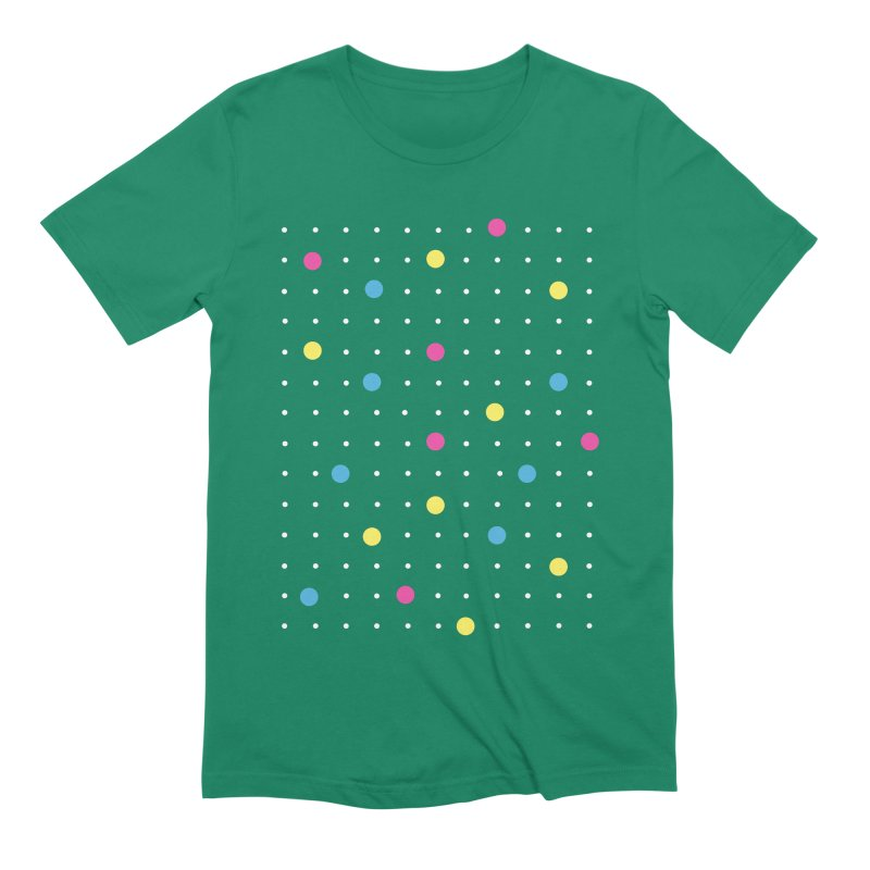 Pin Points CMYK Men's Extra Soft T-Shirt by Project M's Artist Shop