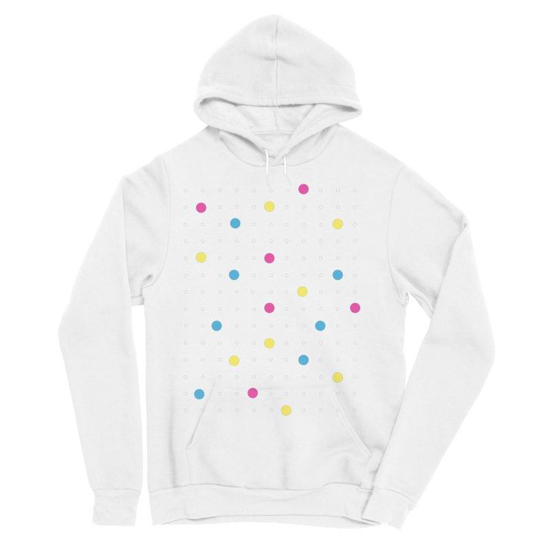 Pin Points CMYK Women's Sponge Fleece Pullover Hoody by Project M's Artist Shop